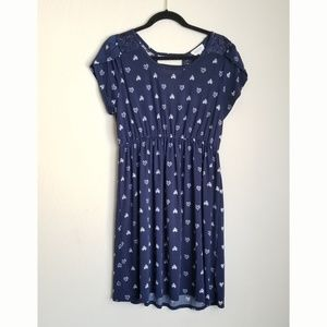 a20f7e2dc75 ... Navy Blue Dress w heart pattern and lace accents Ripcurl Kangaroo ...